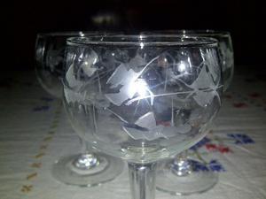 Lote De 55 Copas De Vidrio Antiguas