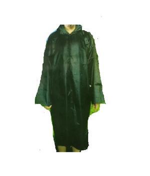 Piloto De Lluvia Con Capucha Poncho Verde Negro