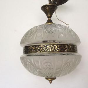 lampara antigua 2 portalamparas