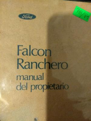 Manual de usuario de Ford Falcon línea  -Sprint