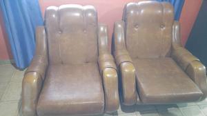 Vendo juego de sillones de livin en ecocuero