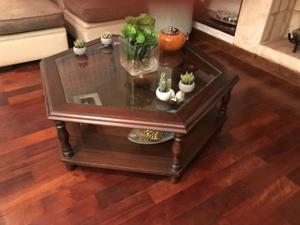 Vendo mesa ratona madera y vidrio