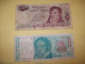 Lote de 10 billetes argentinos