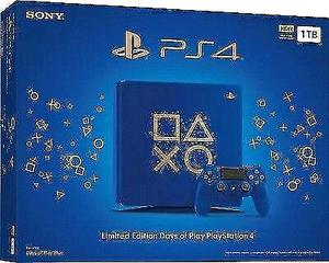 Sony Ps4 Slim 1Tb Azul Edicion Limitada Days Of Play * Cap y