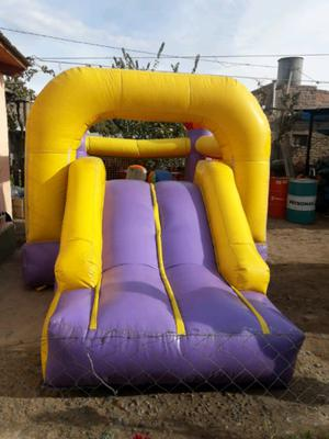 Vendo inflable con tobogan mas motor $