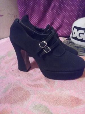 Zapatos con taco plataforma