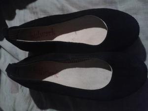 Zapatos de gamuza negros talle 36