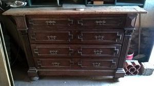 antigua aparador de madera