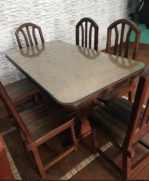 mesa de comedor de algarrobo mesa con vidrio sin sillas