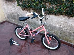 Bicicleta Niña rodado 16 BMX con rueditas