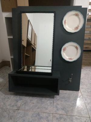 Espejo Con Estantes y platos decorativos. Envios!