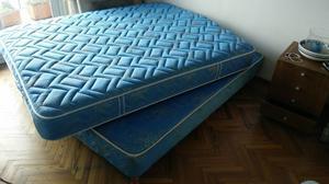 Vendo conjunto de Sommier y colchón 2 plazas marca SIMMONS