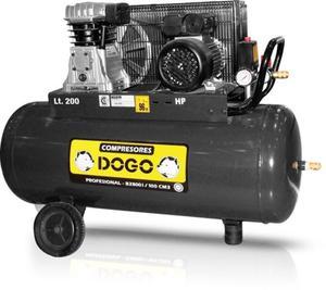 Compresor De Aire Dogo 200 Ltrs 3 Hp Trifásico - Usado