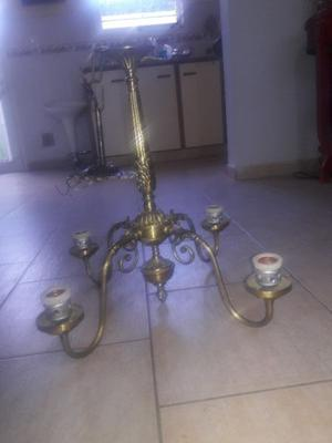 LAMPARA ANTIGUA DE BRONCE
