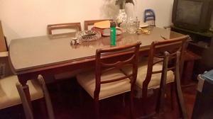Vendo mesa de madera maciza estilo inglés