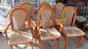 Juego de sillas de Cedro tapizados en pana muy firmes