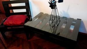 Mesa ratona de madera reciclada pallet - Interior y Exterior