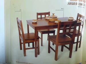 Juego mesa y 4 sillas. (Idem foto).