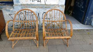 hermosos sillones de Caña