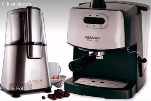 Cafetera expres Peabody más molinillo de moler cafe