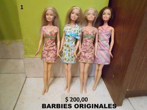 Muñecas Barbies y Kelly - Originales MATTEL