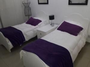 2 camas de 1 plaza con mueble funcional y colchones
