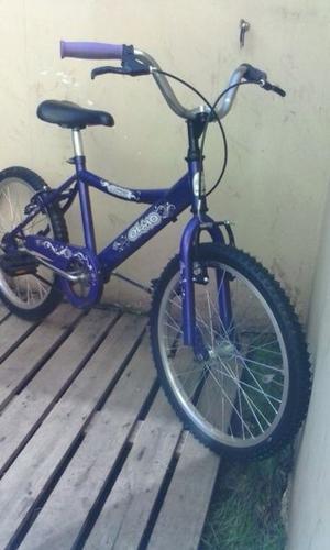 bicicleta olmo rodado 20 paseo violeta como nueva ! lista