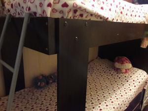 Cama cucheta con cama marinera wengue