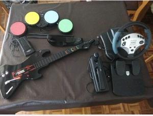 Guitarra Y Bateria - Guitar Hero + Volante - Ps3/pc/ps2