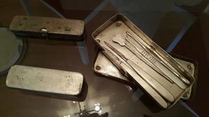 3 cajitas de metal, antiguas