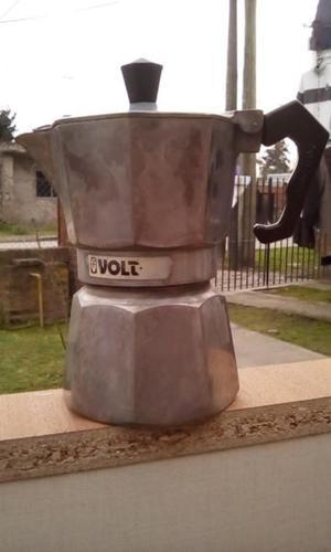 Cafetera De 3 Pocillos Volturno Classica Aluminio Pulido