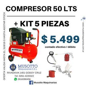 Compresor De Aire Directo 50 Litros Shimaha 2,5hp kit 5