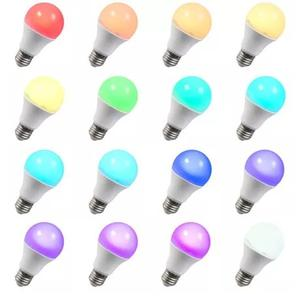 Lámpara foco LED RGB 16 colores a control remoto