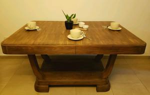 Mesa estilo art deco madera maciza antigua