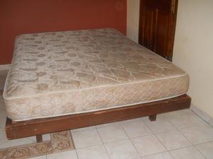 vendo cama de dos plaza y colchón de resortes