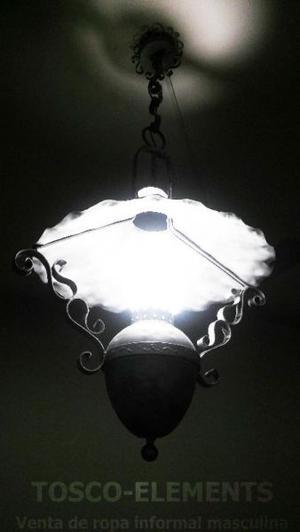 Lámpara de techo, araña de hierro forjado