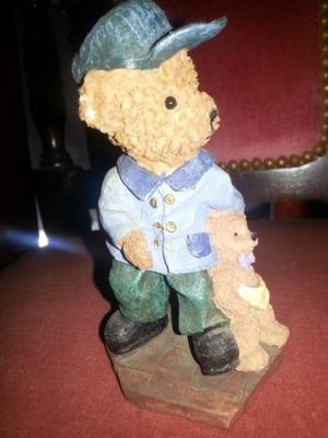 Adorno oso con osito con base. 13 cm. Precioso