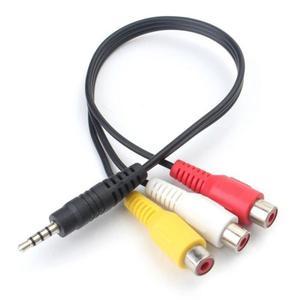 Cable Con Plug 3.5 Mm A 3 Rca Hembra Audio Video