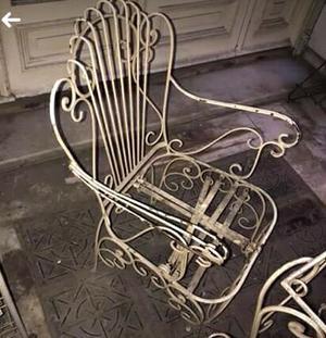 Juego de sillones en hierro forjado