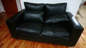 Sofa dos cuerpos color negro