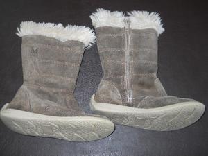 Botas de gamuza con piel