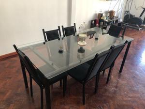 Combo de mesa y seis sillas
