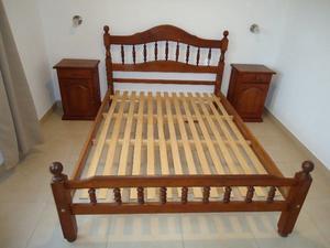 VENDO 1 cama Algarrobo 2 plazas + 1 Cómoda + 2 camas 1