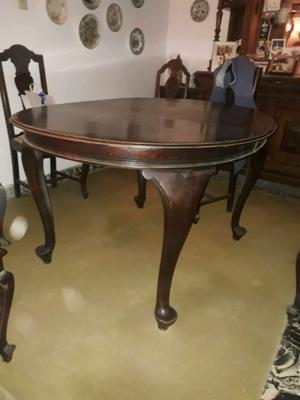 Mesa antigua, estilo ingles reina Ana