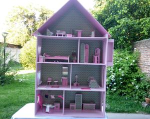 Casita para muñecas Barbie con Ascensor y luz mansion XXL