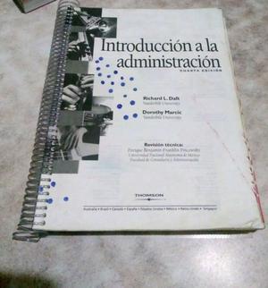 Vendo Libro de Introducción A La Administración de Daft -