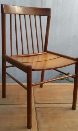 Juego 6 sillas antiguas madera petiribi escandinavas a
