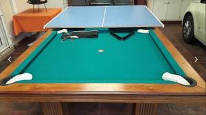 Mesa de pool con tabla de ping-pong