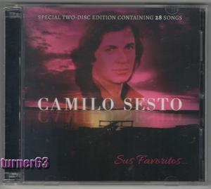 CAMILO SESTO SUS FAVORITOS - 2 CDS ORIGINALES EN CAJA DOBLE
