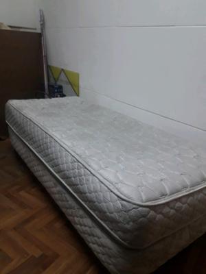 Somier y colchón de 1plaza